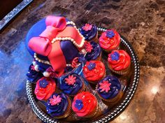 Fancy Nancy cake and cupcakes
