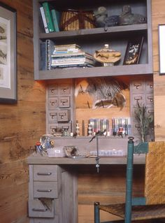 Fly Tying Station - rustic - Family Room - Other Metro - Remick Associates Architects + Master Builders
