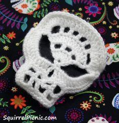 Sugar Candy skull #crochet pattern