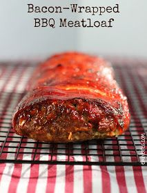 Bacon-Wrapped BBQ Meatloaf Weight Watcher Friendly - With a family of bacon lovers, I totally have to try this!