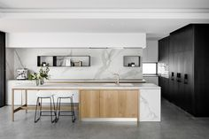 Oreo House by Taylor Pressly Architects - Australian Interior Design Awards Home Decor Kitchen, Kitchen Furniture, Home Kitchens, Kitchen Dining, Cheap Furniture, Kitchen Ideas, Modern Kitchens, Furniture Dolly, Small Kitchens
