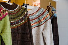 Yoked Sweaters! by LollyKnit, via Flickr