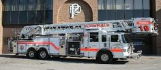 Plainfield Fire Protection District (IL)  1919 2002 Pierce platform tower ladder truck 100ft 2000 GPM pump with 300 gallons of water  http://setcomcorp.com/integrated-seat-communications.html