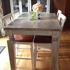 DIY Kitchen Table | DIY Distressed kitchen table. | craft ideas
