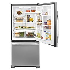 Whirlpool 21.9 cu ft single door bottom freezer, stainless steel $1000 on sale Sears.com
