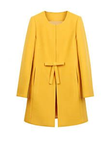 Buy Fold-Over Collar Single Breasted Plain Swing Woolen Coat online with cheap prices and discover fashion Coats at Fashionmia.com.