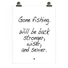 Charmant Gone Fishing Poster By Lifeonmarsdesign On Etsy