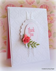 SC481 Paper Posie Thank You by Boss - Cards and Paper Crafts at Splitcoaststampers