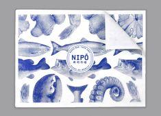 Nipō on Behance Japan Branding, Graphic Design Illustration, Illustration Art, Packaging Design, Branding Design, Logo Design, Line Art Flowers, Point Of Sale, Typography Layout