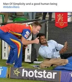 Ab de villiers is so humble thatswhy everyone likes him Cricket Sport, Cricket Match, Ipl Cricket Games, Ab De Villiers Ipl, Ab De Villiers Photo, Crickets Funny, Cricket Coaching, Ms Dhoni Wallpapers, Cricket Quotes