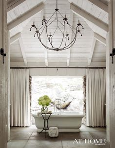 Basket chandelier from Low Country Originals