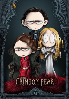 little version of the last Crimson Peak poster! Here you can find prints and some other stuff: http://www.redbubble.com/people/hashgenius/works/15838139-little-crimson-peak-poster Drawn with graphite and digitally colored. by HASH
