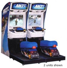 Arctic Thunder is a snowmobile racing game developed by Midway Games released as an arcade game as well as on PlayStation 2 and Xbox consoles. Arcade Games For Sale, Arcade Game Room, Arcade Game Machines, Arcade Machine, Cheese Game, Midway Games, Nerf Toys, Pink Bedroom Decor, Chuck E Cheese