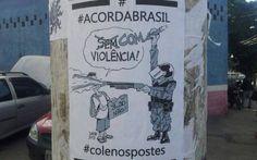 Desenhos de Latuff foram usadas por manifestantes de junho. Foto: Reprodução/Facebook