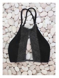 The Girl and The Water - made by dawn hunter bikini // black and gray halter bikini Summer Suits, Summer Wear, Lingerie, Looks Style, My Style, Made By Dawn, Alternative Rock, Sport Outfit, Halter Bikini