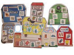 Třídíme odpad | Strukturované učení | E-shop Obrázková škola Market Research, Earth Day, Kindergarten, Montessori, Recycling, Preschool, Diy Crafts, Science, Nasa