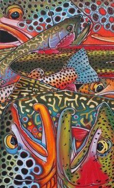 Trout Confetti 1 Giclee Print