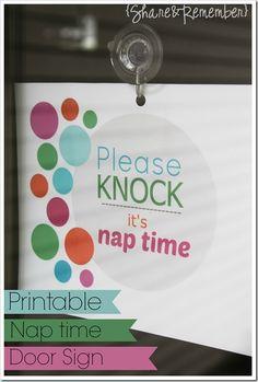 Please knock…it's nap time|Printable -