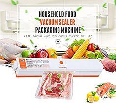 ROGUCI Conservation des aliments Appareil de Mise Sous Vide ,Ménage Alimentation automatique Vacuum Sealer machine à emballer Emballeuse d'emballer aliments: Amazon.fr: Cuisine & Maison