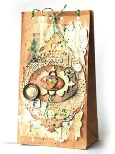 Tag created by Finnabair using Sizzix and Tim Holtz products