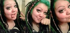 Beautiful Digi Korpse With awesome green hair and her Halloween Candy Accent dreads By Toxic Hair