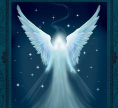 The arrival. Angel art print by TheArtOfSpirit on Etsy, $25.00
