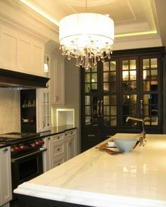 statement lighting for kitchen | ... statement piece above the island that complements the fabulous ceiling