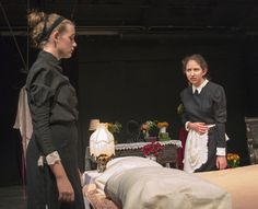 A performance of Jean Genet's play 'The Maids'.