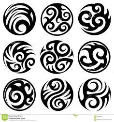 tatuajes-tribales-redondos-fijados-28766725.jpg (1300×1390)