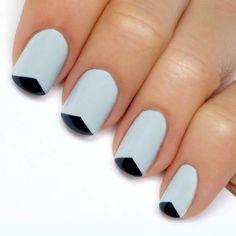 manicure francés triángulo invertido