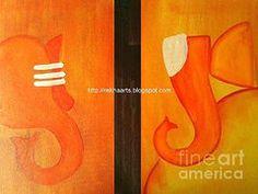Modern Ganesha Paintings - Ganesha Paintings