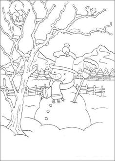 In The Backyard snowman coloring pic