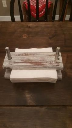 Woodworking Jigsaw Shed DIY - Napkin Holder - Wood Napkin Holder - Vintage Napkin Holder - Shabby Chic Napkin… Now You Can Build ANY Shed In A Weekend Even If You've Zero Woodworking Experience! Shabby Chic Napkin Holder, Shabby Chic Napkins, Wood Napkin Holder, Woodworking Business Ideas, Woodworking Projects Diy, Woodworking Plans, Woodworking Nightstand, Woodworking Jigsaw, Woodworking Beginner