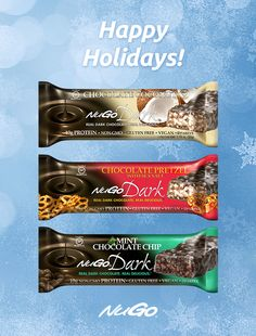 This holiday season, trade in the candy for a NuGo Dark protein bar for a #healthytreat. #glutenfree #vegan