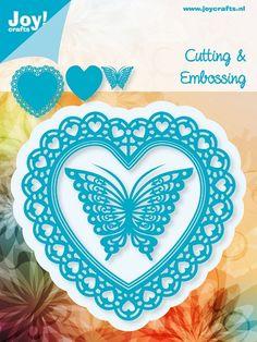 6002/0381 Noor! Design Blauwe mal Open hart met vlinder