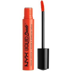 Nyx Professional Makeup Liquid Suede Cream Lipstick (12 CAD) ❤ liked on Polyvore featuring beauty products, makeup, lip makeup, lipstick, glossy lipstick and lip gloss makeup