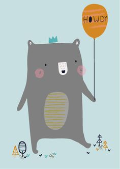 Aless Baylis for Petite Louise.  Howdy Bear  #howdy #bear #illustration #petitelouise