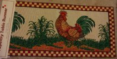 Tapestry Table Runner Rooster by P.P Home Collection. $19.99