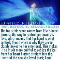Elsa's powers. This is a totally different view! I thought they came from her hands.