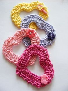 Crochet heart photo tutorial