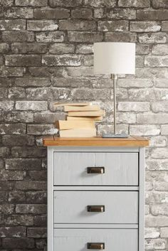 Buy Grey Bricks Wallpaper In 3 Shades From The Next UK Online Shop