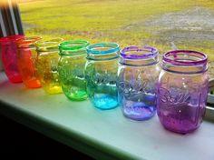 Finalized mason jars