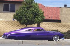A profile to swoon over! Frank DeRosa 's King of Mercs, a purple '51 Mercury!