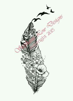 106 Best Tattoo Feathers Images Feathers Feather Art Sketches