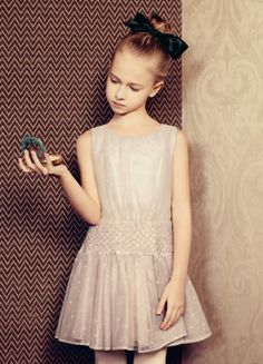 Simple sparkle party dress for Baby Dior holiday 2015 girls fashion