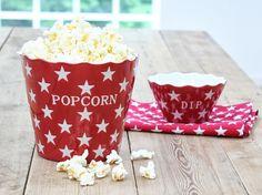 Popcornschale Rot von Krasilnikoff