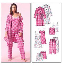 McCall's M5248  Women's Feminine Pajama by MalibuQuiltworks, $6.95