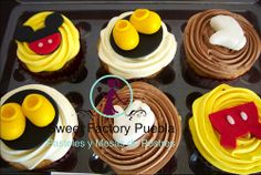 Pastel y cupcakes Mickey Mouse Sweet Factory Puebla By Chef Luciana Proietti Cake´s Designer