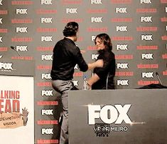 Andy and Norman's hug at The Walking Dead Eurotour (Portugal) x