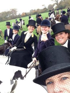 The Quorn invited the sideways ladies to their Opening Meet